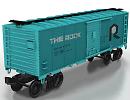 3D модель Вагон грузовой 2
