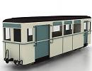 3D модель Вагон пассажирский