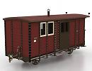 3D модель Вагон поезда почтовый