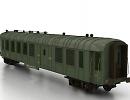 3D модель Вагон товарный для поезда