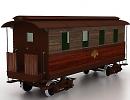 3D модель Ж/Д вагон 1