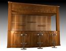 3D модель Деревянный бар