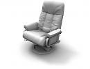 3D модель Кожаное кресло