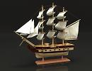 3D модель Кораблик
