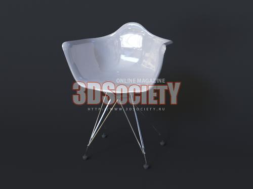 3D модель  Стул пластиковый