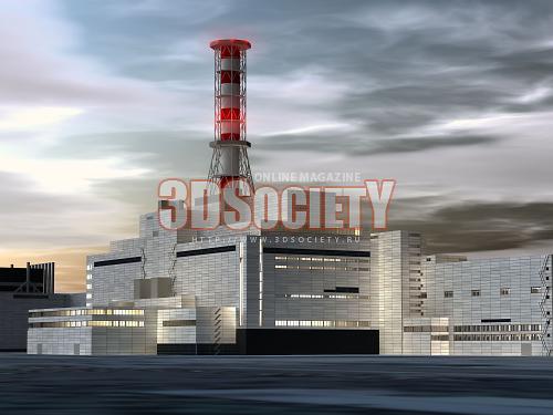 3D модель  Чернобыльская АЭС Chernobyl NPP
