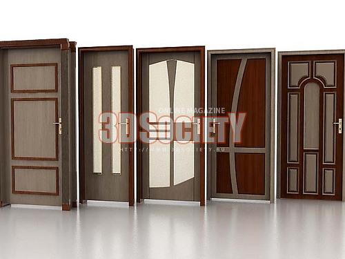 3D модель Двери 5шт.