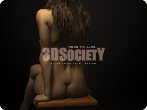 3D модель  Girl on a chair