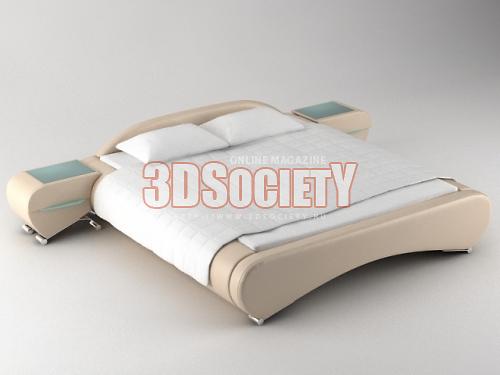 3D Модель Кровать Скачать