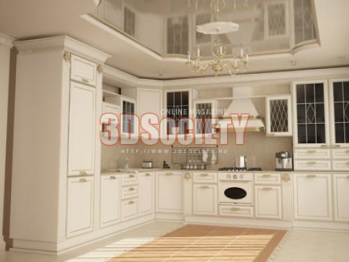 Как сделать 3d модель кухни