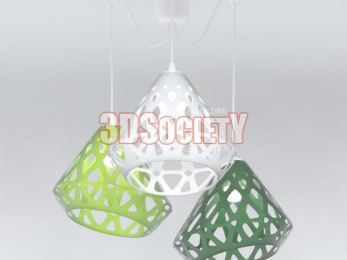 3D модель  Люстра трехцветная ZAHA LIGHT
