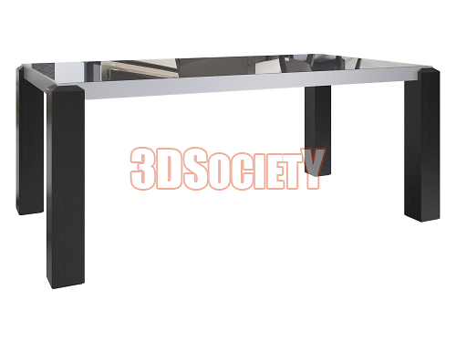 3D модель  ОБЕДЕННЫЙ СТОЛ TECHNO