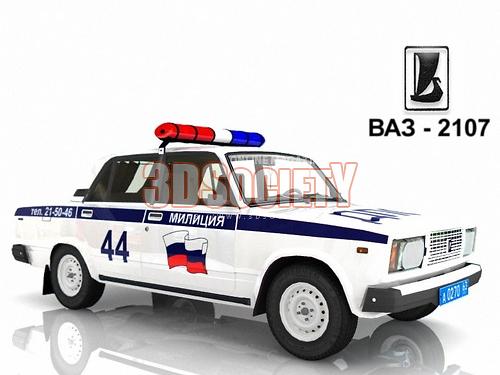 3D model of VAZ-2107 traffic police