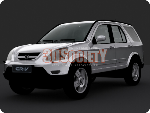 3D model of the Honda CR-V 2002