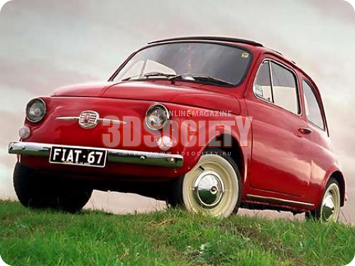 3D модель Fiat 500