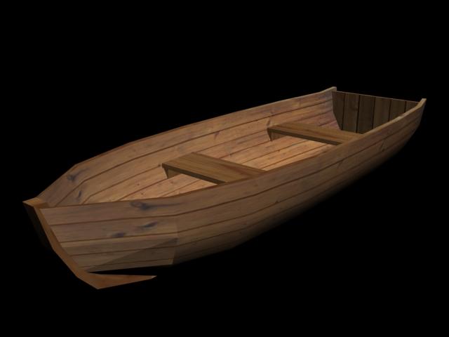 лодка из дерева на технологию