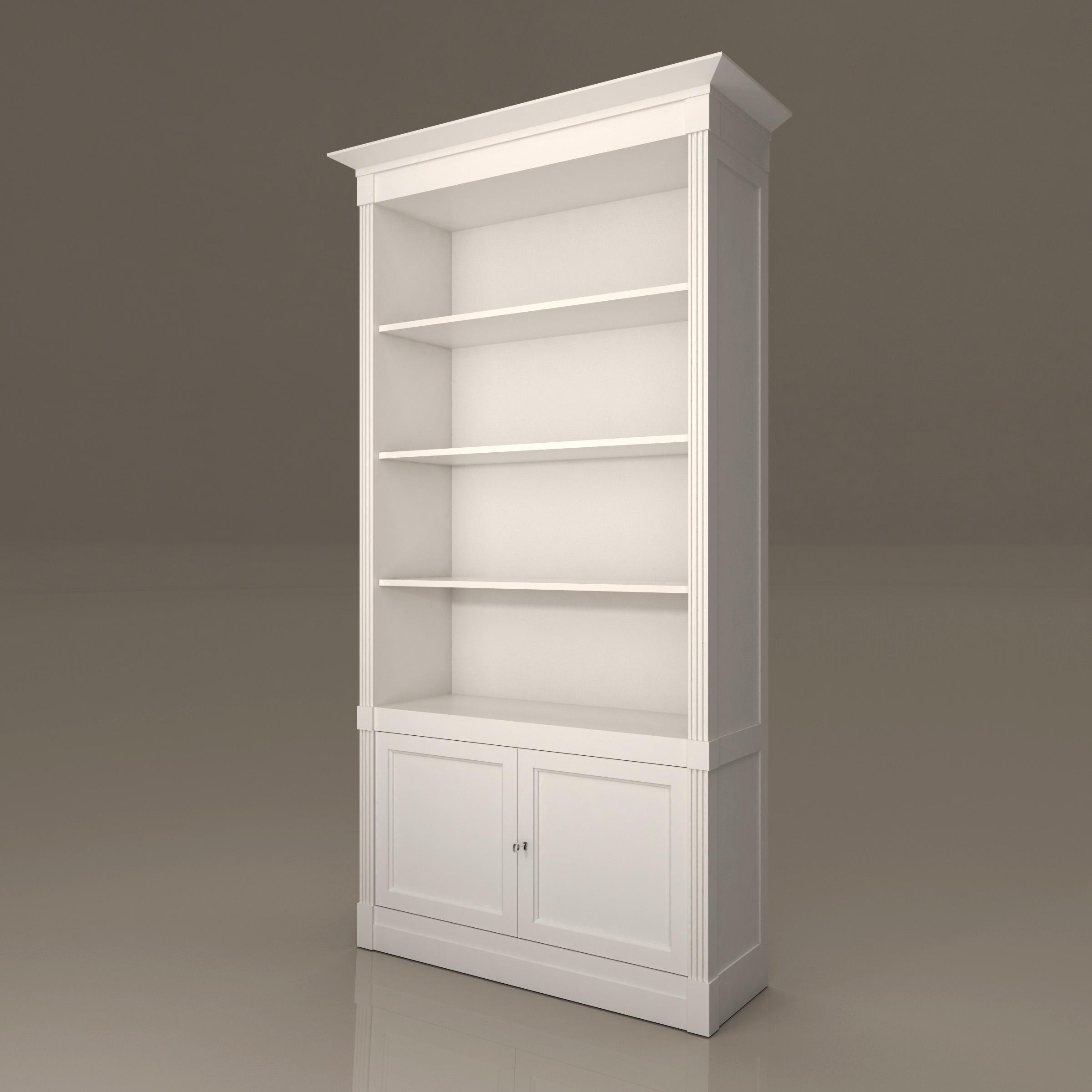 3d модель книжный шкаф.