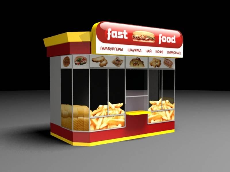 3d модель ларек fast food