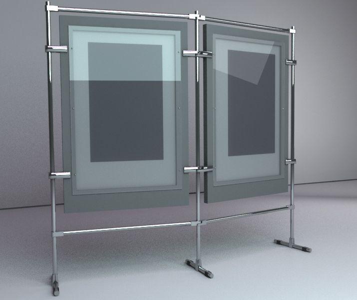 Торгово-промышленная выставка стенд, выставочный стенд на белом фоне стоковое фото