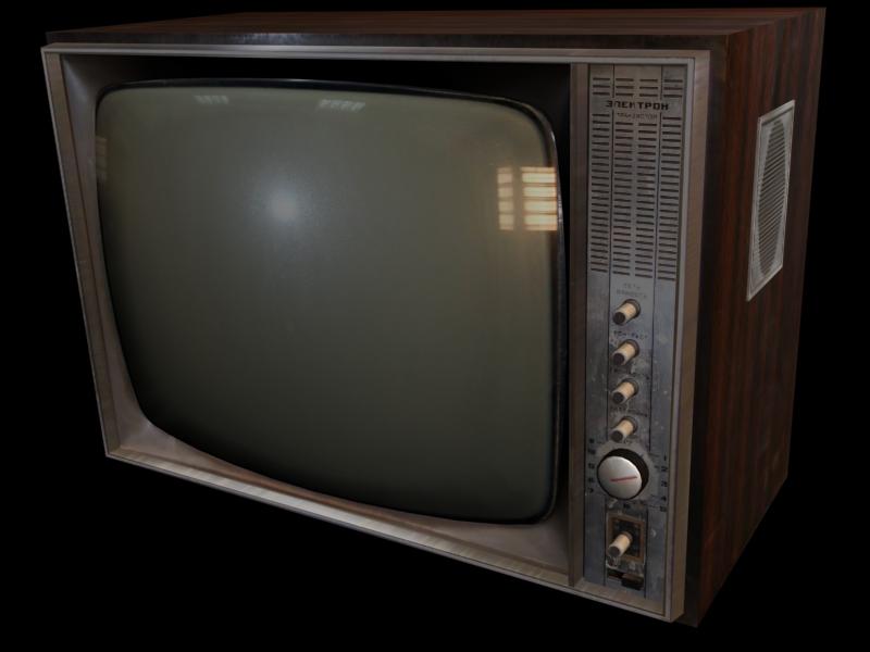 3d модел� Телевизо� Элек��он215 1971г