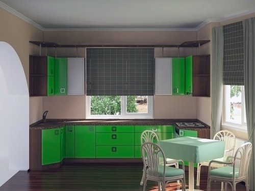 3d модель кухня