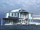 3D модель  2-х этажный жилой дом