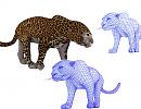 3D модель  3D модель леопарда