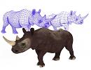 3D модель  3d модель носорога