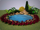 3D модель  альпийская горка с водоемом