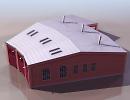 3D модель  Ангар