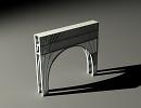 3D модель  арочный переход
