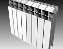 3D модель  батарея отопления rifar