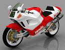 3D модель Bimota Tesi 1d мотоцикл
