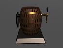 3D модель Бочонок с пивом из бара