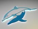 3D модель  дельфины для бассейна