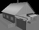 3D модель  Деревенский Домик