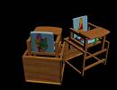 3D модель детский стульчик для кормления