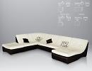 3D модель  диван Армани Сильвер фабрика Лагуна