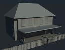 3D модель  Дом (без текстур)