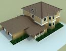 3D модель  Двухэтажный коттедж