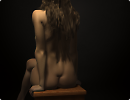 3D модель  Girl on a chair