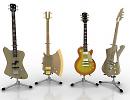 3D модель Гитары 4шт.