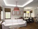 3D модель  Гостиная и кухня
