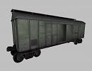 3D модель  грузовой вагон