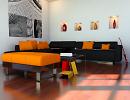 3D модель  интерьер гостиной комнаты
