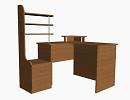 3D модель  компьютерный стол угловой