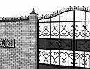 3D модель Кованные ворота