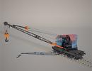 3D модель  кран МК-15