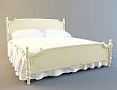 3D модель  кровать классическая