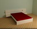 3D модель  Кровать мальм икеа